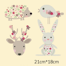 DoreenBeads Kawaii Cartoon Animal Icon Heat Transfer Printing Iron On Patches Applique for T-shirt Jeans Clothes DIY 21*18cm 1PC(China)