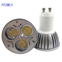Super Bright 9W GU10 LED Bulb 110V 220V led spot Led Spotlights Warm/cold white/Cool White GU 10 LED lamp free shipping