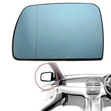 Car-styling 1Pc Door Wing Mirror Glass Heated Blue Passenger Left Side For BMW X5 E53 1999-06 Car Rearview Heating Tinted Mirror