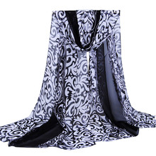 Winter Women Printing Long Soft Wrap Scarf Ladies Shawl Georgette Scarves Female Palace winds muffler beach cover ups(China)