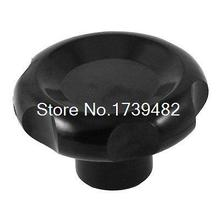 8mm Female Thread Diameter Screw On Type Clamping Knob Grip Black