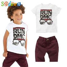 Sodawn Sodawn The Boy's Clothes Free Shipping Children's New 2pce Suit Sets T-shirts+Shorts Baby Boys Casual Clothing Sets