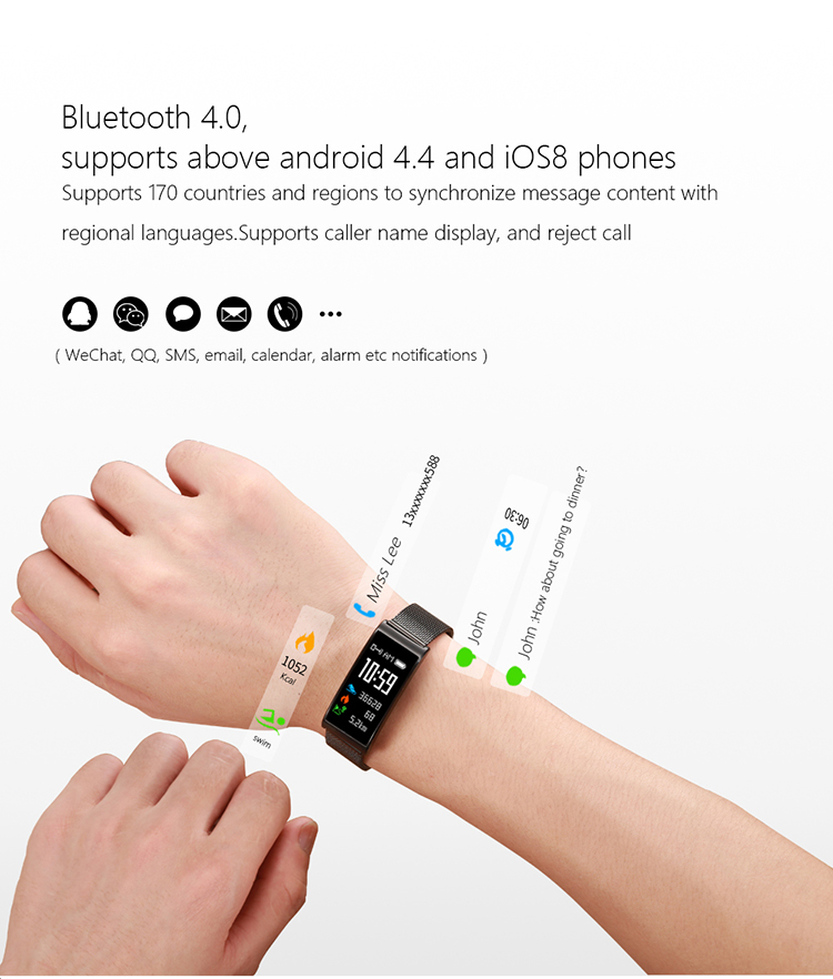Microwear X3 IP68 Waterproof smart fitness bracelet pedometer blood pressure smart wristband Android iOS fitness tracker 23
