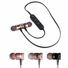 Metal Magnet Wireless Bluetooth Earphone Headset For iPhone Samsung for Sony Xperia Z1 Z2 for LG Pro 2 Series