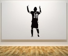 Wall Decal Lionel Messi Barcelona Argentina Football Player Star Wall Art Sticker Children Bedroom Removable Wall Decor WW-31(China)