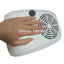 40W High Power Salon Nail Art Tool Suction Nail Dust Collector Machine Vacuum Cleaner Strong Fan Hand-rest UV Gel Nail Dryer Tip
