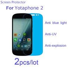 Yota Yotaphone 2/Oukitel K6000 Pro Screen Protector Guard,2pcs Anti Blue Light UV Soft Nano Anti-Explosion Protective Films