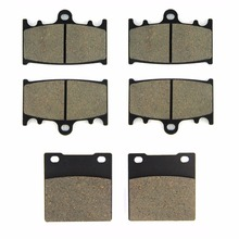 SOMMET Motorcycle Front + Rear Brake Pads Disks for Kawasaki ZZR 1200 (ZX 1100 C) (02-05) ZZR1200 ZX1200  LT158-158-161