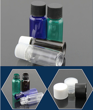 Screw Top Cap White Blue Green Brown 15ml Wash Gargle Liquid Oil Fragrance Bottles Travel Plastic Sample Small Sub-bottles(China)