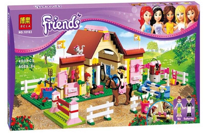 2017 New Original Bela Friends Girls 400pcs Heartlake Stables Girls Mias Farm Building Blocks Brick<br><br>Aliexpress
