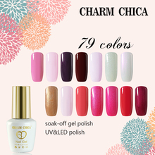 CHARM CHICA UV Gel Nail Polish 6ml Nude Pink White Black Soak Off Polish Lacquer Nail Art Manicure Vernis Semi Permanent 90485(China)