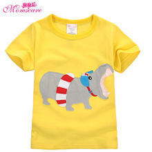 Mom's care Cartoon Childrens T shirts 100% Cotton Short Sleeves Infant Baby Boys Girls Shirts Tops Tees Sweatshirt for Summer(China)