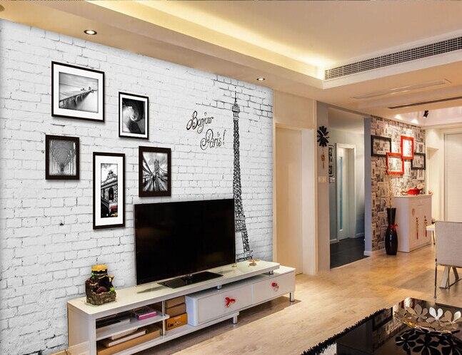 The custom 3D murals,3 d European style retro wall frame Paris iron tower ,living room sofa TV wall bedroom wall paper<br>