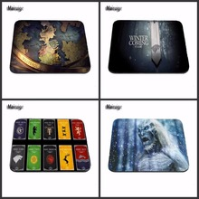 Top Selling Luxury Print Winter is Coming Game Of Thrones Silicon Anti-slip Gaming Mousepad Computer Mouse Pad Mat As A Gift