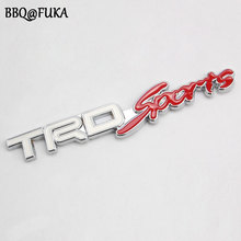 BBQ@FUKA Car 3D Metal TRD Sports Car Sticker Emblem Decal Badge Fit For Toyota Corolla Avensis Yaris Supra MR2 Prius Car-Styling(China)