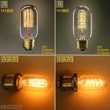 Buy LightInBox 2pcs T45 40W E27 220V Lampada Bombilla Retro Ampoules Decoratives Incandescent Bulb Edison Bulb Lamp Vintage Light for $7.30 in AliExpress store