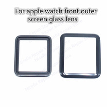 Front Outer Screen Glass Lens Cover Replacement For Apple Watch 42mm/38mm For iPhone watch Front Glass Panel Lens