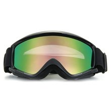 Motorcycle Motocross Helmet Ski Snowboard Eye Protection Glasses Goggle Black(China)