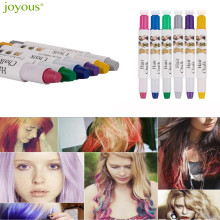 Beauty Girl Hot Joyous Metal Coloring Crayons One-time Hair Dye Pen Hairdressing 6 Color Set Temporary Hair Dying Pens Salon