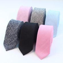 Fashion Tie Classic Men Solid Necktie Formal Business Suit Bowknots Ties Male Cotton Polyester Skinny Slim Colourful Cravat