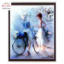Needlework Crafts & Gifts 14CT unprinted embroidery French DMC Quality Counted Cross Stitch Kit DIY Oil painting Romance pattern