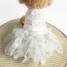 Armi store sequined floral Decoration Dog Wedding Dress  Princess Dogs Dresses 6073015 Pet Clothes Supplies XS, S, M, L, XL