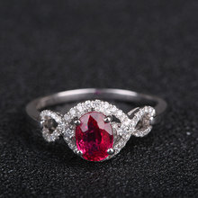 Robira Diamond Rings Wholesale 18K Gold 1ct High Quality Natural Ruby Jewelry Wedding Rings for Wome Fashion Finger Ring