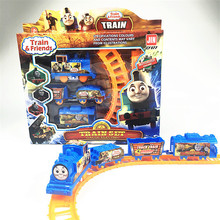 2017 New cartoon design boy girl children's slots electronic thomas train set toys baby infant toddler kid's plaything gifts(China)