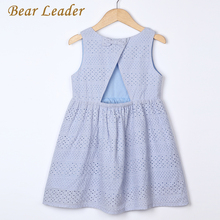 Bear Leader Girls Dresses 2017 New Summer Brand Kids Princess Dress Cute Embroidery Bow Design  for Girls 2-6Y Children Clothes