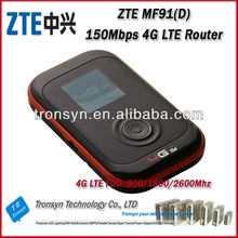 Free Shipping New Original Unlock 100Mbps ZTE MF91 4G LTE Pocket WiFi Router And Mobile WiFi Hotspot