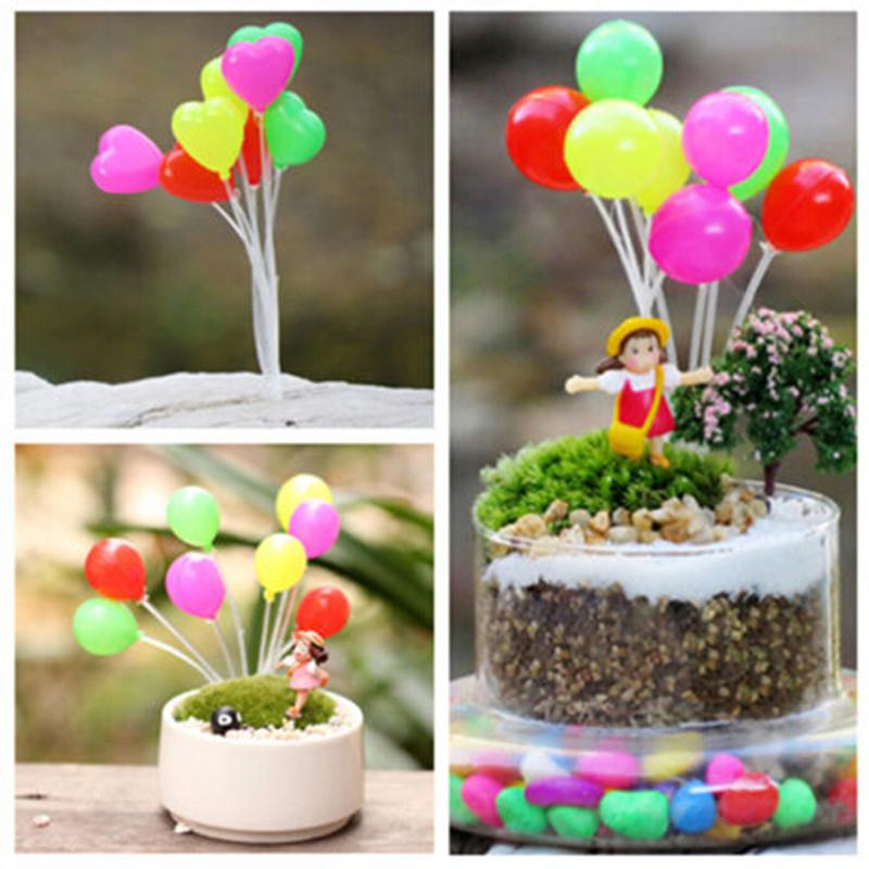Cute Mini Dolls Home Garden Simulation Colorful Balloons Micro Landscape Garden Decorations Christmas Gift Miniatures