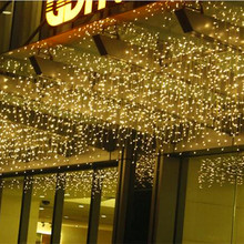 3.5M*40 50 60CM 120LED Copper Icicle light Heatproof Sprayproof Holiday Xmas Decoration Icicle Lighting String for Garden Gazebo
