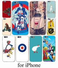 vespa scooter Hard Case Cover for iPhone 7 7 Plus 6 6S Plus 5 5S SE 5C 4S Case Cover