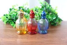 15ML Essential Oil Empty Striped Glass Bottle Colored Roll On Perfume Shop Vial 5PCS/LOT