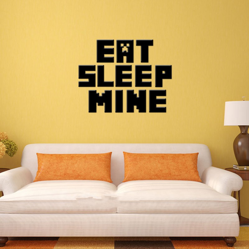 HTB1E2NjjgoQMeJjy0Fpq6ATxpXaZ - Newest Minecraft Wall Stickers 3D Wallpapers Kids Room Decals Minecraft Steve Home Decoration Popular Games Home Free Shipping
