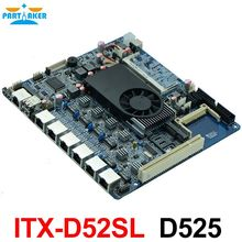Firewall industrial embedded motherboard ITX_D52SL 525 1.8GHz Dual core processor with 6*USB/2*COM/1*VGA/6 LAN