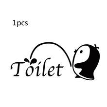1 pcs bird bathroom toilet washroom sticker wall stickers for kids rooms funny home decor home decoration accessories wall decal