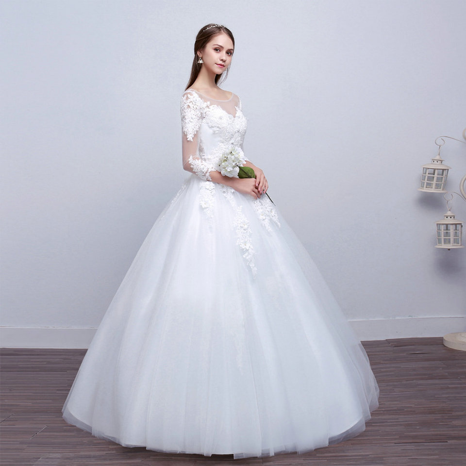 LAMYA Real Photo Princess Elegant Wedding Dresses With Long Lace Sleeve High Quality Ball Gown Bridal Gowns Vestidos De Noiva 11
