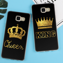 King Queen Case For Samsung Galaxy S3 S5 S6 S7 Edge S8 Plus A3 A5 J1 J2 J3 J5 J7 2015 2016 2017 Back cover