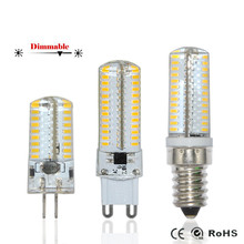 E14/G9/G4 SMD3014 3W 4W 5W 6W 7W 8W 9W LED Corn Bulb lamp DC12V/AC220V dimmable Silicone lampada led COB Spot light Chandelier