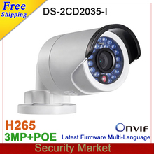 Original DS-2CD2035-I 3Mp POE IPC replace DS-2CD2032-I DS-2CD2032F-I CCTV IP Bullet IR Network Camera DS-2CD2035-I
