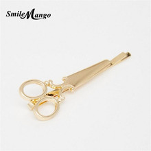 SmileMango1PC Women Hairpin Scissors Pattern Hair Clip Hair Barrettes Apparel Accessories Headpiece Free Shipping(China)