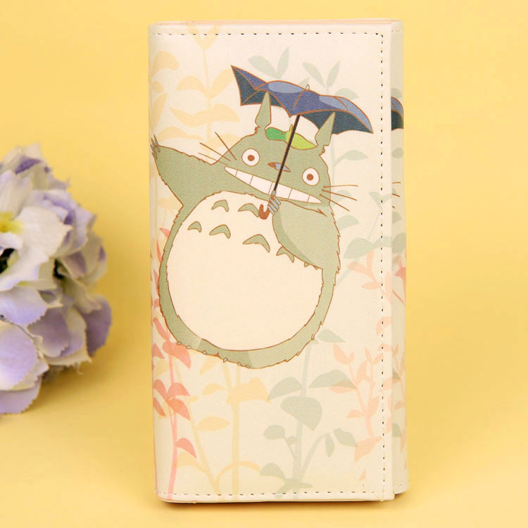 Cartoon My Neighbor Totoro Women Wallets PU Leather Students Wallet Cards Holder Women's Clutch Hasp Coin Purse Money Bags 15
