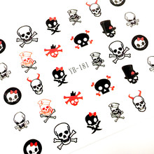 newest designs 181-192 nail art sticker nail decal Incorporated nail art supplier nail accessories-(China)