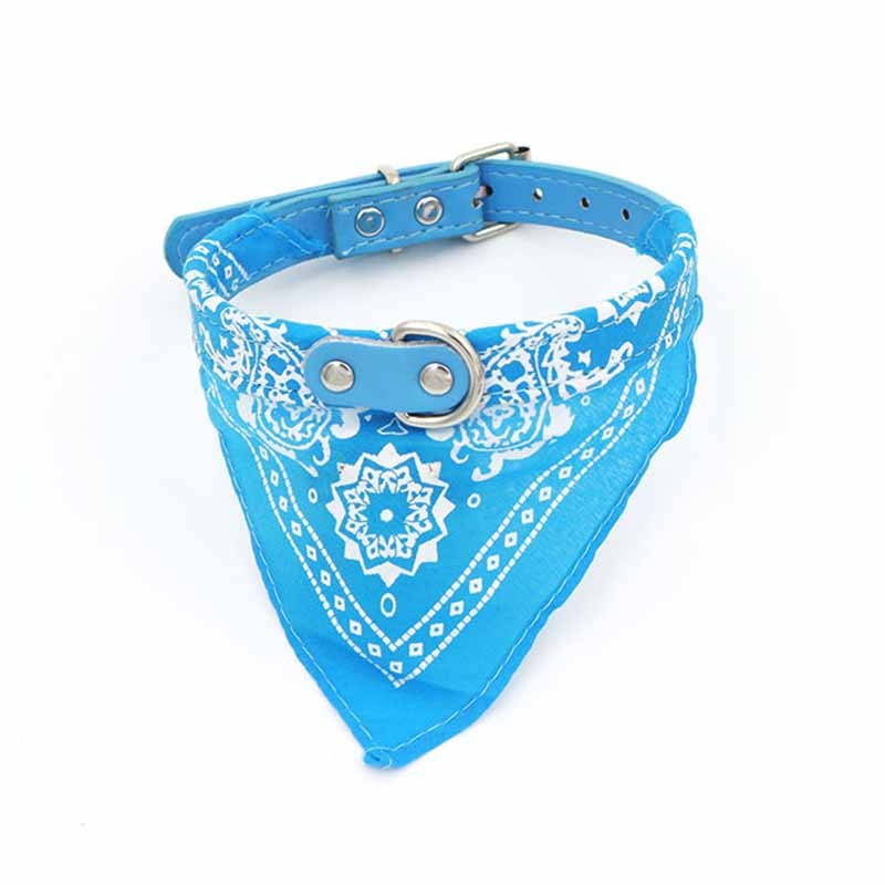 SYDZSW 7 Colors PU Pet Collar Dog Scarf Saliva Towel Leather Dog Collor Lead for Cats Chihuahua Products for Small Large Dogs6