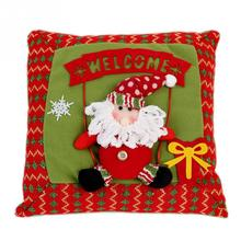Fashion Christmas Snowman Santa Claus Pattern Embroidered Pillow DecorChina