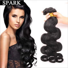 One piece 8A Brazilian Virgin Hair Body Wave Women Wigs Mink Brazilian Hair 100% Human Hair Weave Body Wave Natural Color Spark