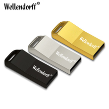 Hotsale USB Flash Drive Silver/Gold/Black Metal Pen drive 4GB 8GB 16GB 32GB 64GB rectangle USB2.0 memory stick u disk