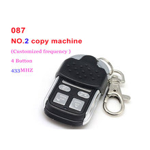 Auto remote control retrofit 087 model 4 buttons remote control for NO.2 copy machine Customized frequency 433MHZ Free Shipping