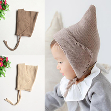 Baby Elf Hat with Solid Color 2017 New Autumn and Winter Cute Fashion Wool Cap for Boys and Girls 2 Colors Hot Sale